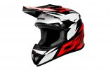 Motocross Helmet CASSIDA CROSS CUP TWO red/ white/ black M